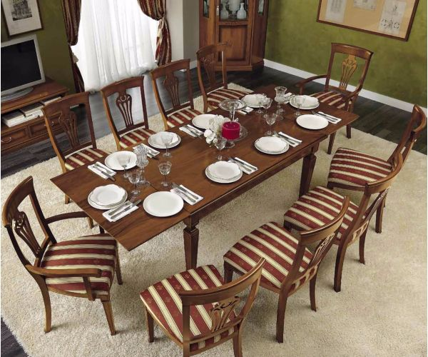 Camel Group Nostalgia Walnut Rectangle Extension Dining Table
