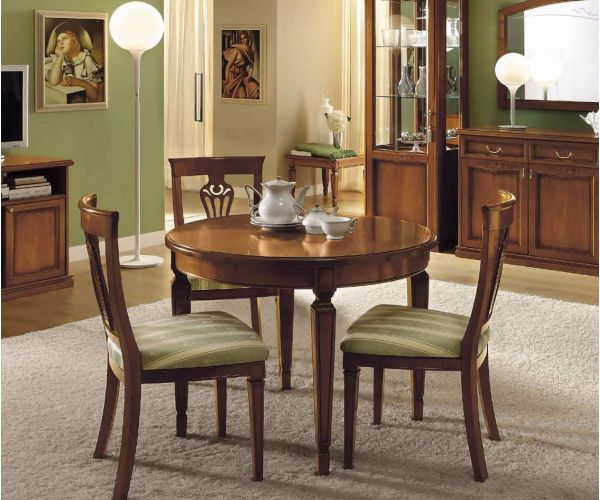 Camel Group Nostalgia Walnut Round Extension Dining Table