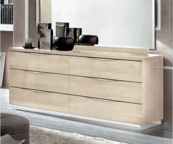 Camel Group Platinum Sand Birch 6 Drawer Double Dresser