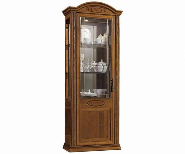 Camel Group Siena Cherry Finish 1 Door Vitrine