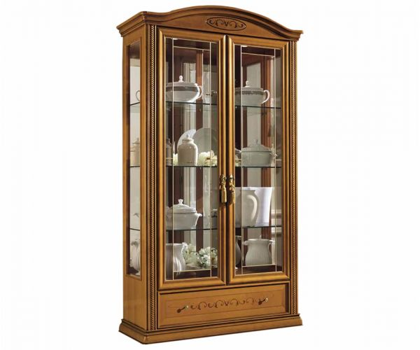 Camel Group Siena Cherry Finish 2 Door Vitrine