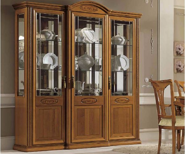 Camel Group Siena Cherry Finish 3 Door Vitrine