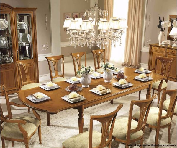 Camel Group Siena Cherry Finish Rectangular Extension Dining Table