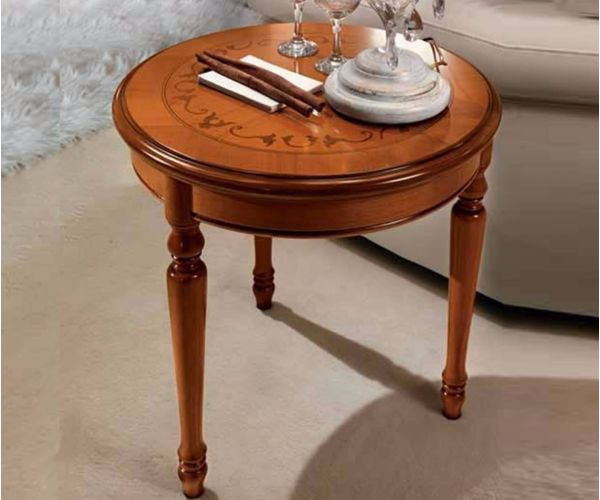 Camel Group Siena Cherry Finish Round Corner Table