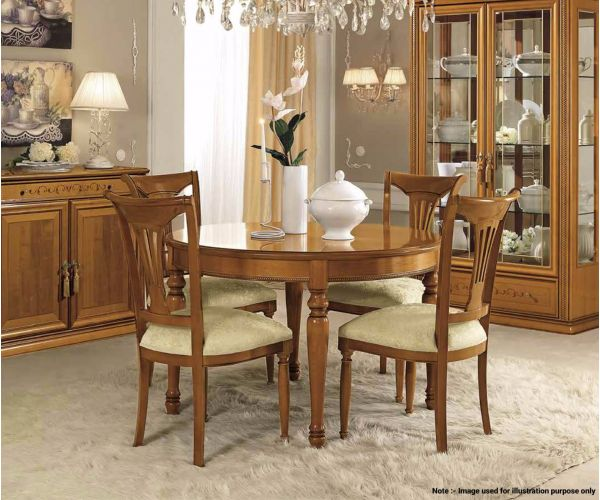 Camel Group Siena Cherry Finish Round Extension Dining Table