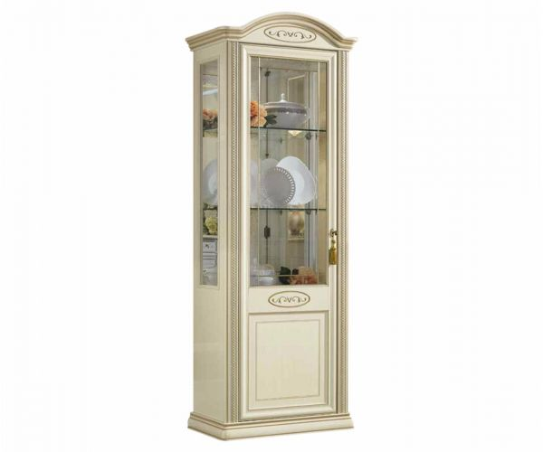 Camel Group Siena Ivory Finish 1 Door Vitrine