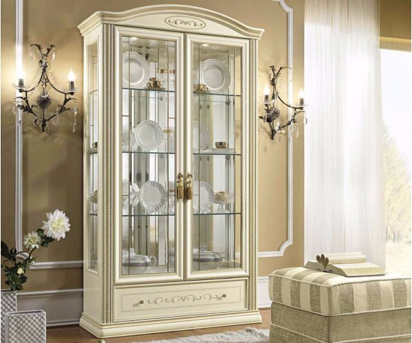 Camel Group Siena Ivory Finish 2 Door Vitrine