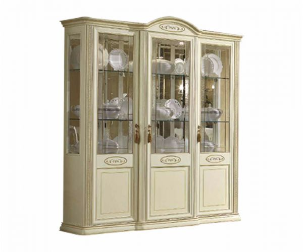 Camel Group Siena Ivory Finish 3 Door Vitrine