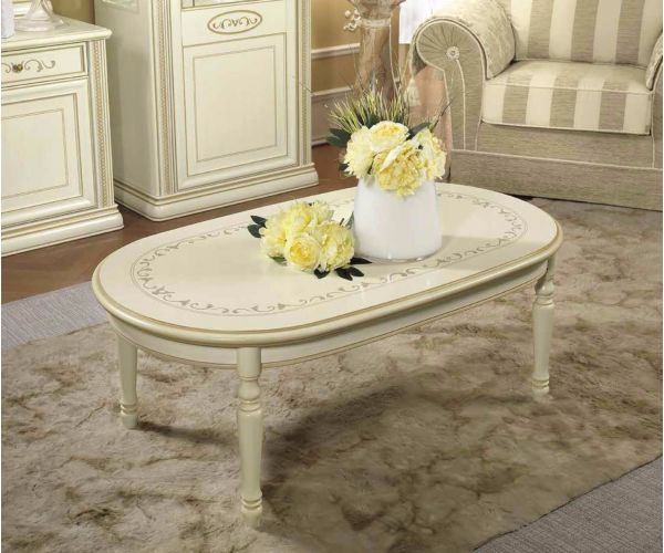 Camel Group Siena Ivory Finish Coffee Table