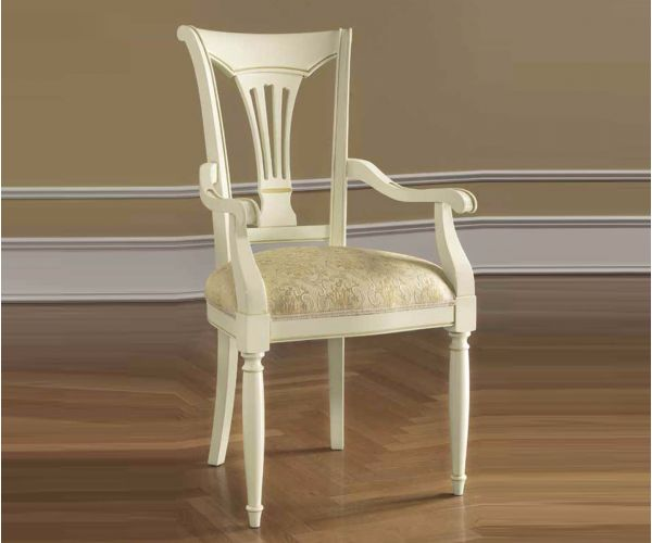 Camel Group Siena Ivory Finish Dining Armchair
