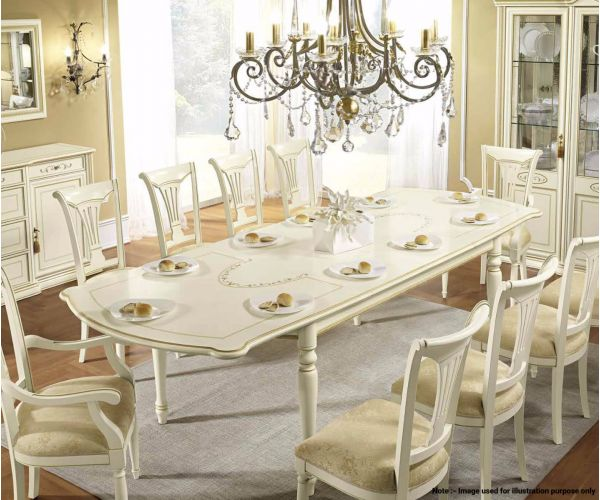 Camel Group Siena Ivory Finish Rectangular Extension Dining Table