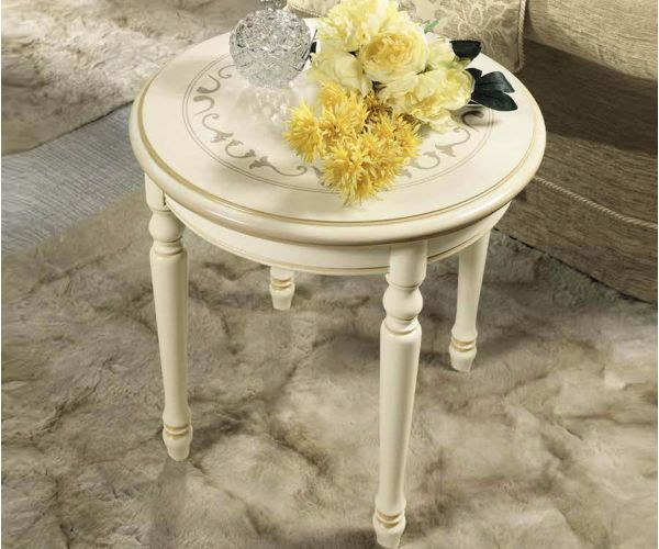 Camel Group Siena Ivory Finish Round Corner Table