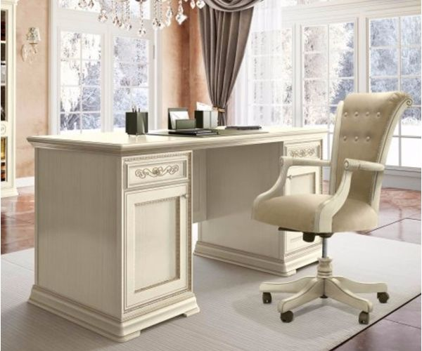 Camel Group Torriani Ivory Finish 2 Door 2 Drawer Writing Desk