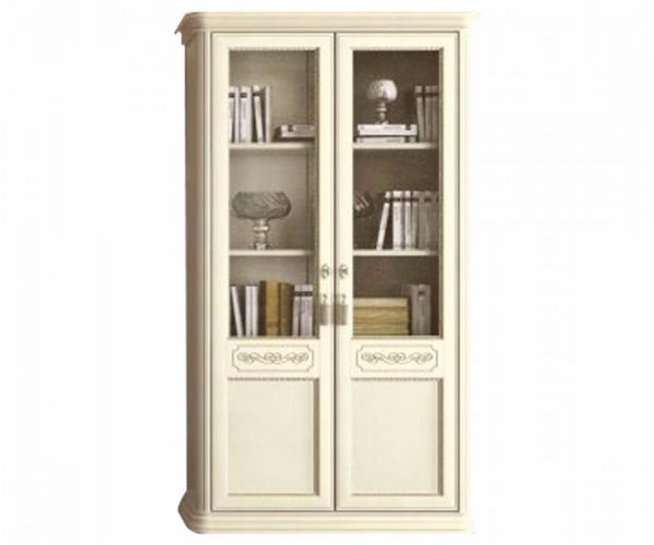 Camel Group Torriani Ivory Finish 2 Wooden Door Bookcase