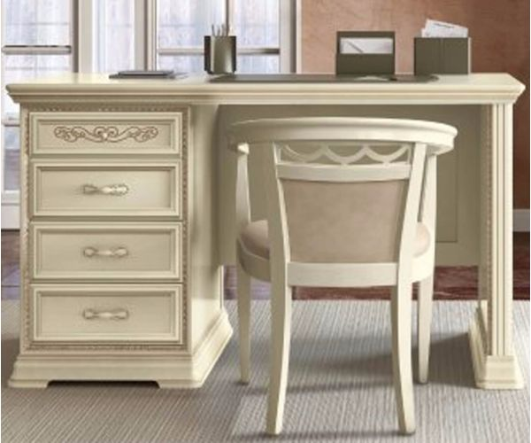 Camel Group Torriani Ivory Finish 3 Drawer Writing Desk