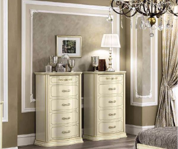 Camel Group Torriani VIP Ivory Finish 6 Drawer Chest
