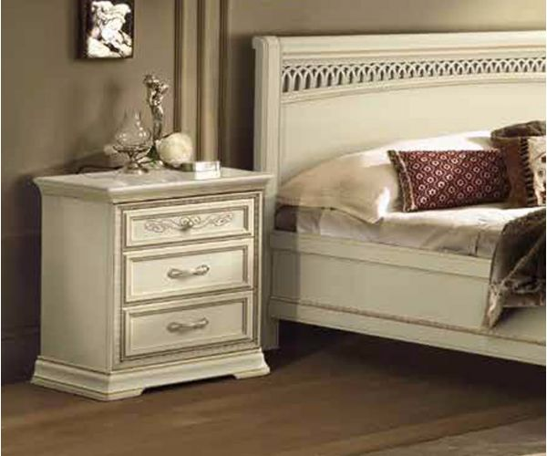 Camel Group Torriani Ivory Finish Bedside Table