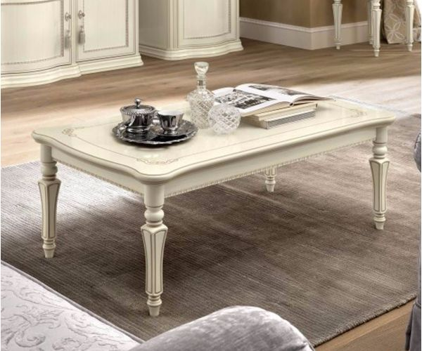 Camel Group Torriani Ivory Finish Coffee Table