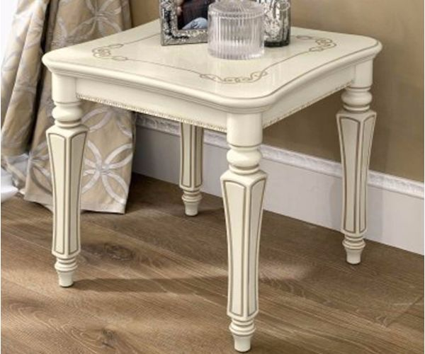Camel Group Torriani Ivory Finish Lamp Table