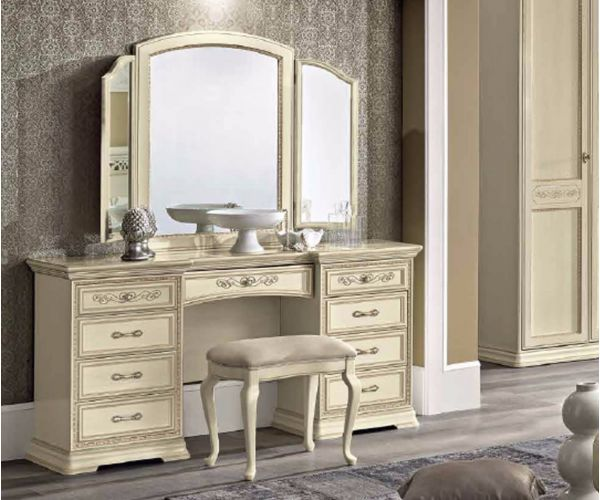 Camel Group Torriani Ivory Finish Maxi Vanity Dresser with Drawer