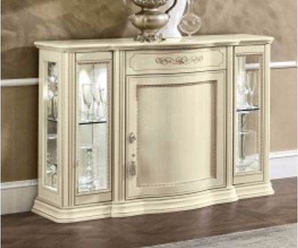 Camel Group Torriani Ivory Finish Mini Buffet with Glass Door