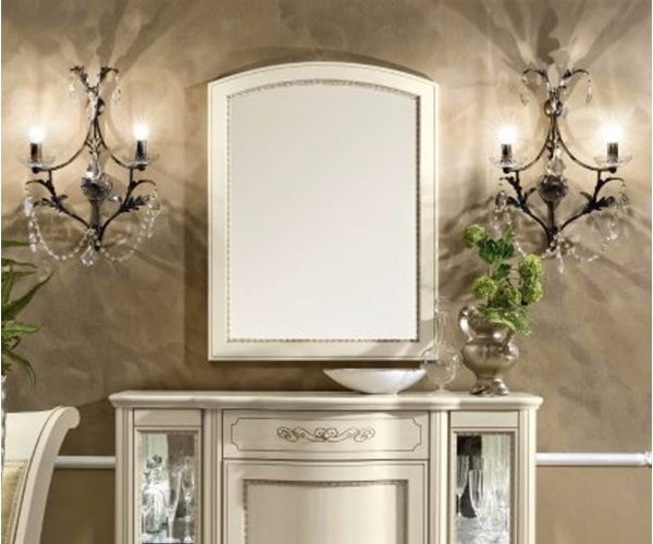 Camel Group Torriani Ivory Finish Small Mirror
