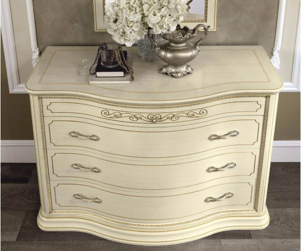 Camel Group Torriani VIP Ivory Finish 4 Drawer Dresser