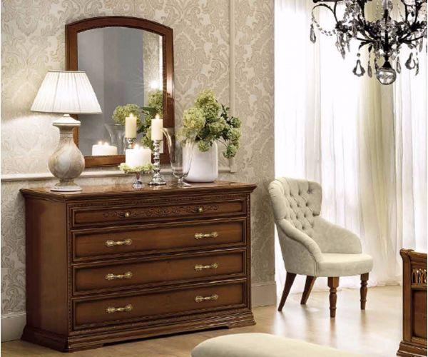 Camel Group Torriani Walnut Finish 4 Drawer Dresser