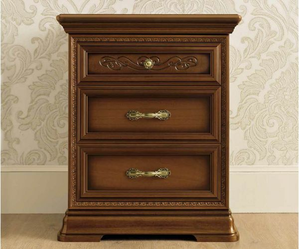 Camel Group Torriani Walnut Finish Bedside Table