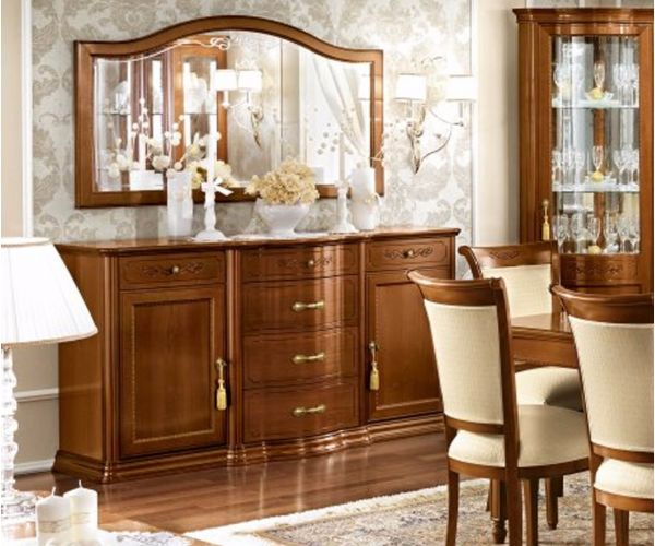 Camel Group Torriani Walnut Finish Buffet with Central Drawer