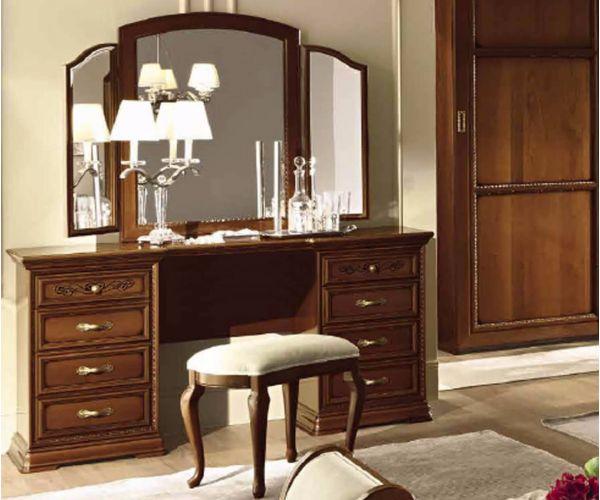 Camel Group Torriani Walnut Finish Maxi Vanity Dresser