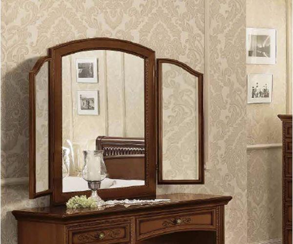 Camel Group Torriani Walnut Finish Triple Mirror