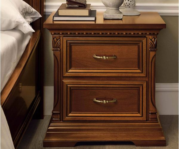 Camel Group Treviso Cherry Finish 2 Drawer Bedside Table