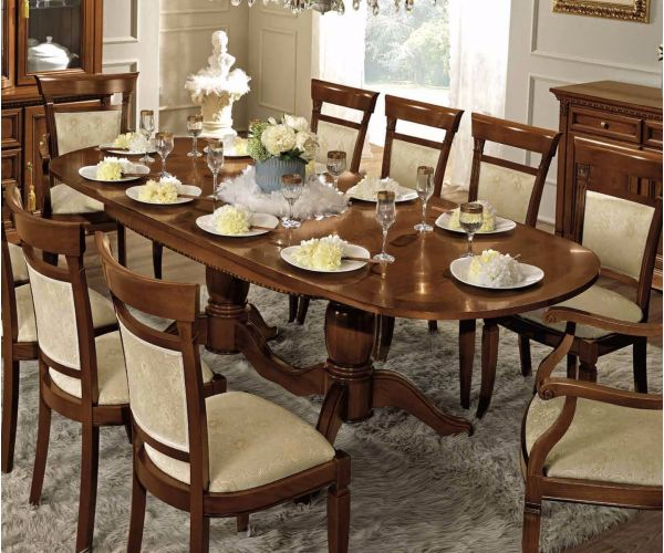Camel Group Treviso Cherry Finish Oval Extension Dining Table