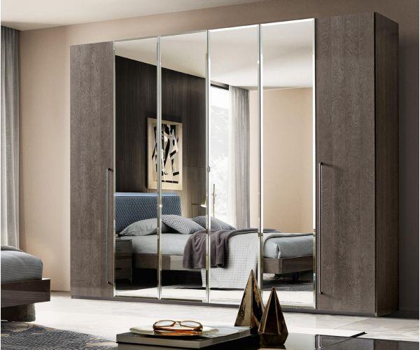 Camel Group Elite Silver Birch 6 Door Mirror Wardrobe