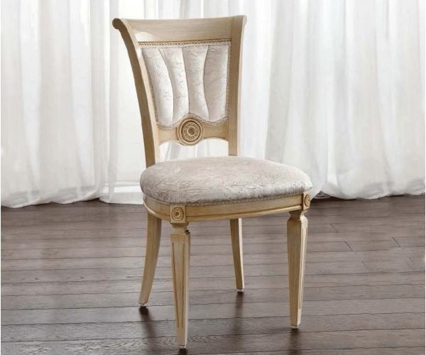 Camel Group Aida Ivory and Gold Dining Chair