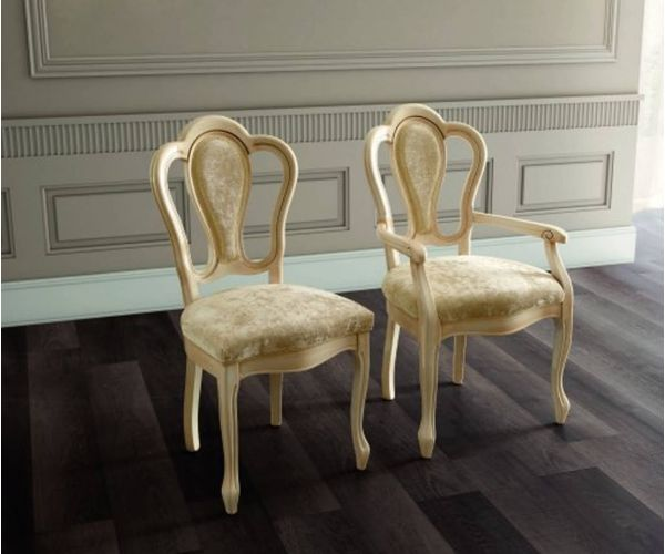 Camel Group Aida Ivory and Gold Michelangelo Dining Chair