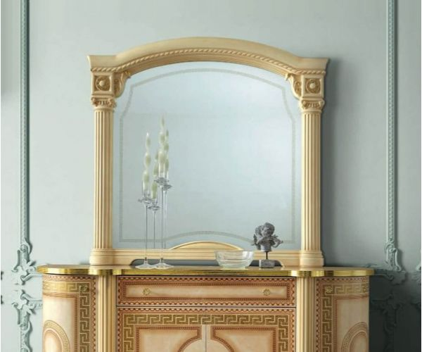 Camel Group Aida Ivory and Gold Large Mirror