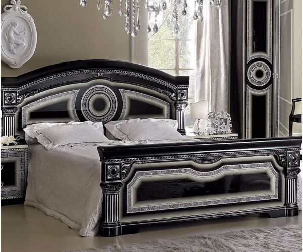 Camel Group Aida Black and Silver Finish Bed Frame