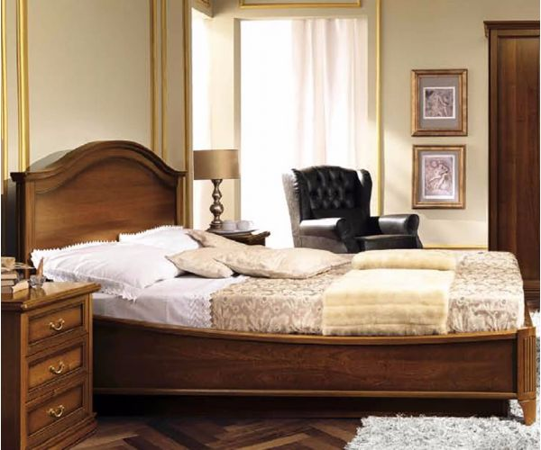 Camel Group Nostalgia Walnut Gendarme Bed Frame