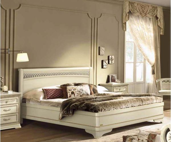Camel Group Torriani Ivory Finish Tiziano Bed
