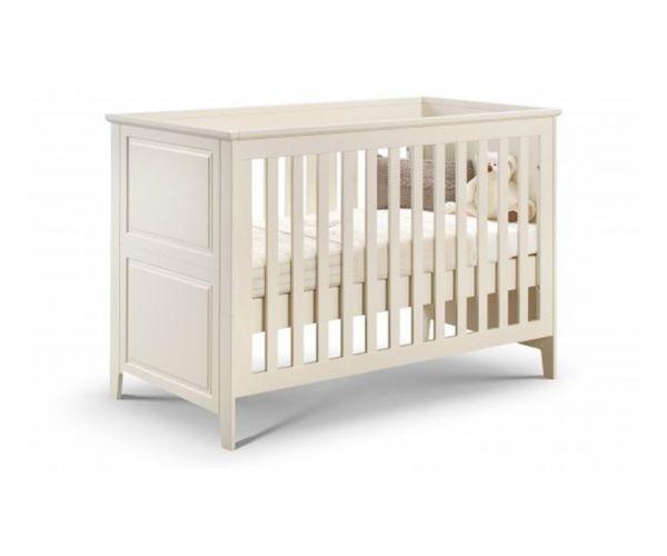 Julian Bowen Cameo Stone White Cot Bed Frame