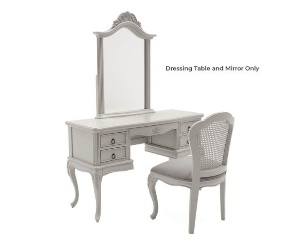 Vida Living Camille Grey Dressing Table and Mirror