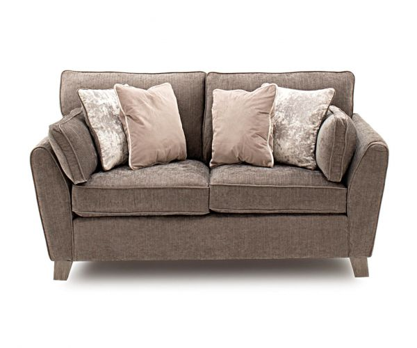 Vida Living Cantrell Mushroom Fabric 2 Seater Sofa Bed