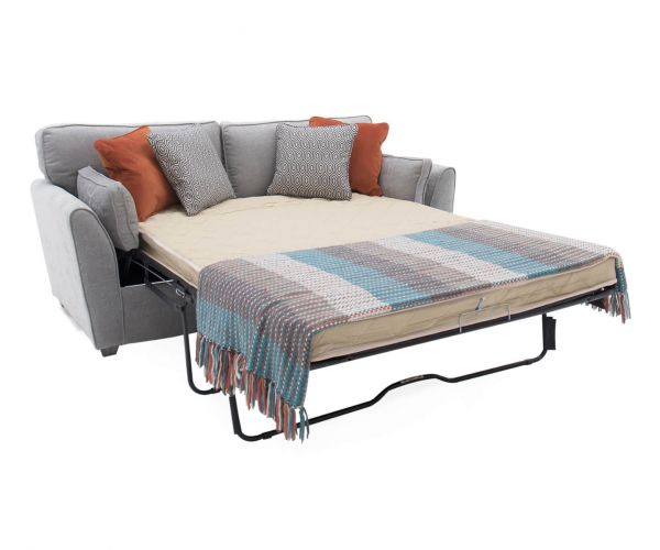 Vida Living Cantrell Silver Fabric 2 Seater Sofa Bed