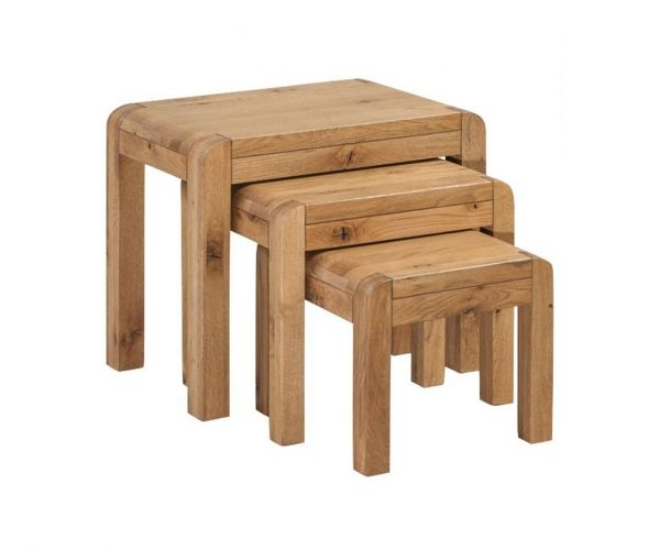 Annaghmore Capri Rustic Oak Nest of 3 Tables