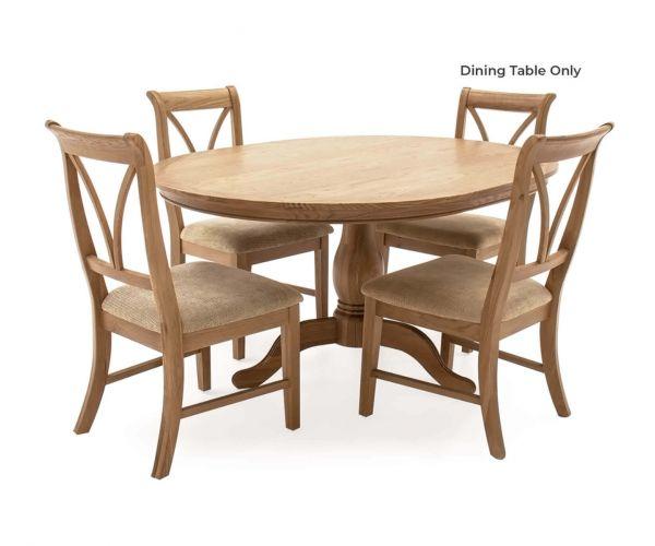 Vida Living Carmen Oak Fixed Oval Dining Table