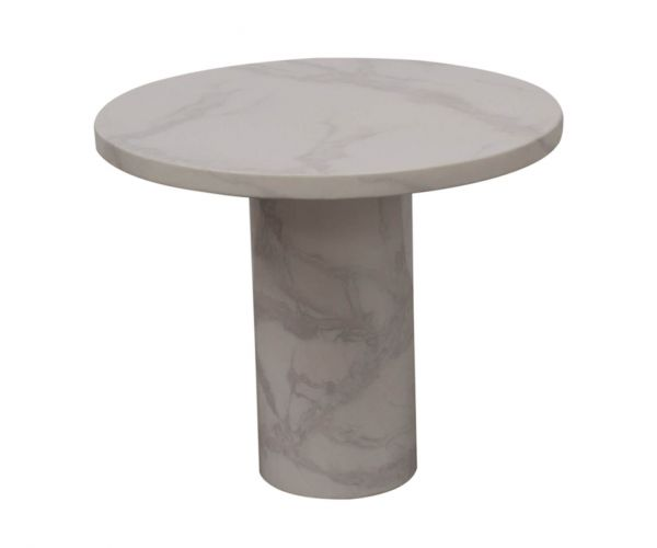 Vida Living Carra Bone White Round Lamp Table