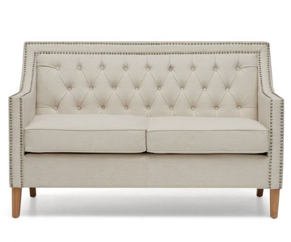 Mark Harris Casa Bella Ivory Fabric 2 Seater Sofa