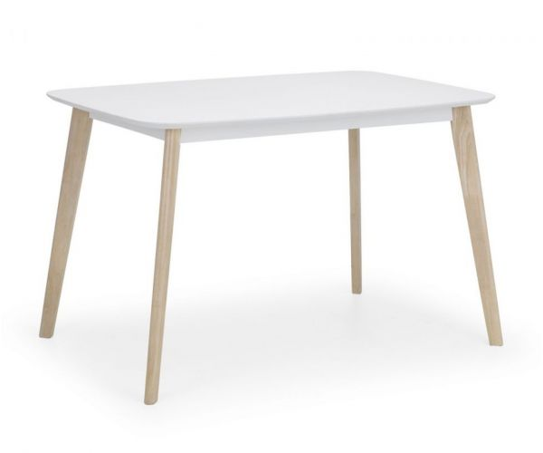 Julian Bowen Casa White and Oak Rectangular Dining Table Only